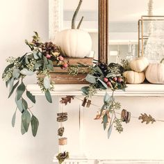 Autumn decor and Fall DIY craft ideas including wreaths with acorns and twigs are in the mix on Hello Lovely Studio! #falldecor #easydiy #fallgarland #fallmantel #tablescapeideas