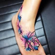 watercolour flower tattoo - Google Search