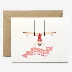Woo Hoo Trapez-Geburtstagskarte / / Circus von ThePaperPonyCo