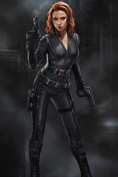 "Concept art of Black Widow from ""Captain America: Winter Soldier"" (2014)."
