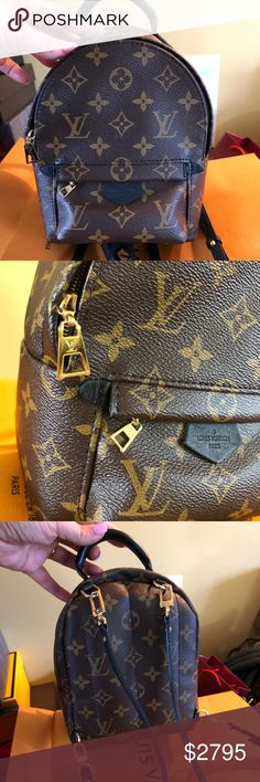f8c31a986ff0 Louis Vuitton Palm Springs mini backpack! Gorgeous Louis Vuitton Palm  Springs mini backpack! This