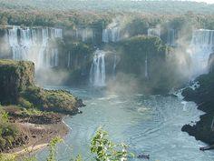 The Iguazu Waterfalls - Brazil World's Most Beautiful, Beautiful World, Places To Travel, Places To See, Iguazu Waterfalls, Wonderful Places, Beautiful Places, Iguazu Falls, World Pictures