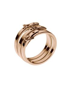 Michael Kors Skinny-Buckle Ring, Rose Golden
