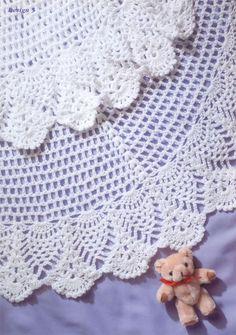 No 805 Gorgeous Baby shawl crochet pattern Copy. CROCHET PATTERN copy of my Original pattern. DK Wool and hook, takes 50 gram balls. Crochet Blanket Patterns, Baby Patterns, Knitting Patterns, Crochet Blankets, Square Patterns, Crochet Afghans, Crochet Stitches, Crochet Baby Shawl, Free Crochet