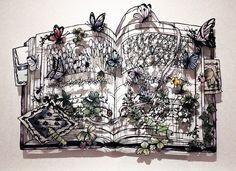 切り絵:まぼろしの庭 ♯5 の画像|小娘の切り絵制作日記