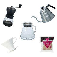 Hario Set. Coffee brewing essentials.