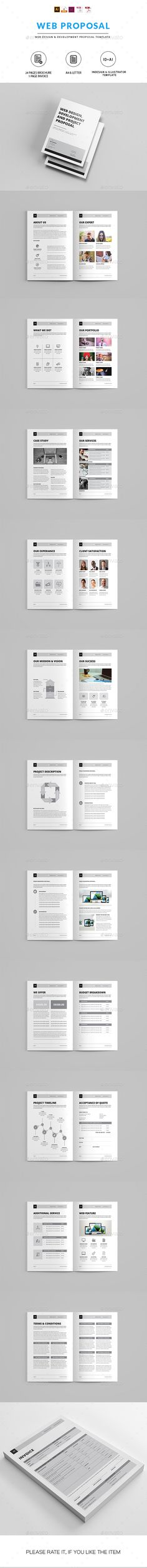 Web Design Proposal Proposals, Proposal templates and Template - website proposal template