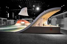 e+i studio's 3,000-sq.-ft. exhibit, every surface of the booth was covered in Italian tile