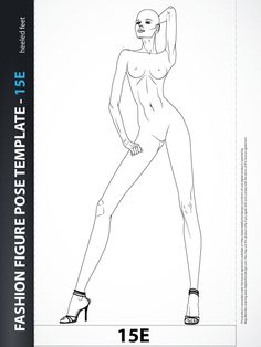 Female fashion illustration is not about showing off stiff figures. Fashion drawing is about showing off relaxed bodies with attitude!