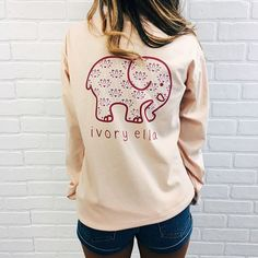 Like if you would wear this shirt from our Wild Flower collection releasing this weekend! #SaveTheElephants ✌