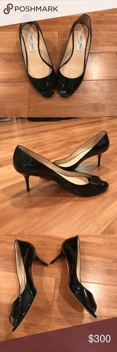 Black Jimmy Choo short heels Black Jimmy Choo short heels Jimmy Choo Shoes Heels