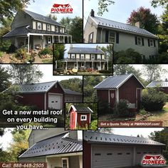 Pole Buildings, Shed Roof, Garage Design, Metal Roof, Garages, New Homes, Construction, Cabin, Mansions