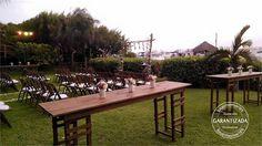 mesas y arco rustico #LoveMemoriesWeddings #Weddings #BeachWeddings #DestiantionWeddings