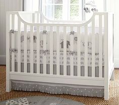 Taylor Nursery Bedding Set #PotteryBarnKids.. if only I could convince the hubby that spending $230 (its on sale!!) on baby bedding was worth it.