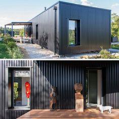 DIAMANT NOIR SHIPPNIG CONTAINER HOME Simplified Exterior - clean look