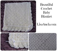 FREE crochet pattern for a Unique Crochet Baby Shawl Blanket by Free Crochet Patterns and Designs by LisaAuch.