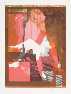 Angus Fairhurst, 'Unprinted II' 2006 is one of a set of three small rectangular photo-etchings mounted on grey paper, which depict silhouettes of women superimposed on top of each other against multi-layered backgrounds. Contrast Art, Postmodern Art, Collage Artists, Collages, Orange Art, Pink Art, Graphic Design Art, Mixed Media Art, Female Art