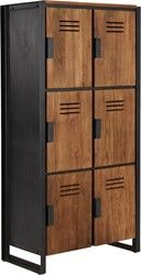 Locker medium, 6 doors 160x80x40 cm
