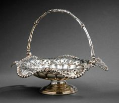 A Victorian Silverplate Cake Basket : Lot 1320. 19th century.