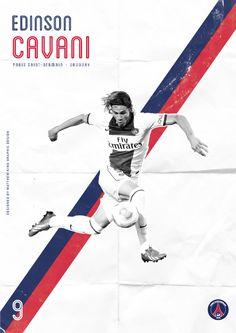 by Matthew King, via Behance Action shot Illustrations overlaid includes text to support messaging Football Design, Football Art, Football Match, Soccer Art, Soccer Poster, Psg, Paris Saint Germain Fc, Sports Graphic Design, Sports Graphics