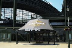 Brand new Harley-Davidson awning for Miller Park. Bring on the baseball games!!