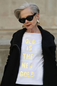 "Thank you to everyone who ordered t-shirts from my collaboration with Fanny Karst! We have just restocked both the ""Old Is The New Black"" and ""Old Is The New Gold"" styles for a limited time. We are thrilled that our gorgeous friend Lyn, The Accidental Icon, agreed to model for us. She makes everything look like… Read Full Post"