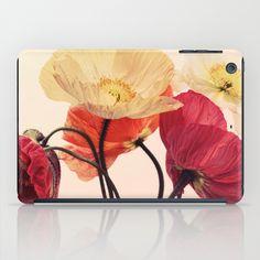 Posing Poppies - bright, vintage toned poppy still life iPad Case