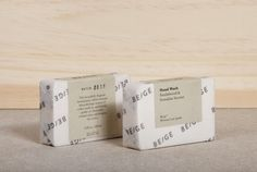 Beautiful and minimal branding and packaging design for Beige by Josep Puy dedicated to personal hygiene products and body beauty care. Beige are nature-based products and aromas of plants, trees with other natural elements. Soap Packaging, Brand Packaging, Packaging Design, Branding Design, Product Packaging, Corporate Design, Soap Images, Minimal Graphic Design, Personal Hygiene