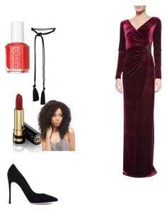 """""""Mother Gothel"""" by directioner-af-daily ❤ liked on Polyvore featuring Gianvito Rossi, Gucci, Teri Jon, Essie, Lanvin and rapunzel"""