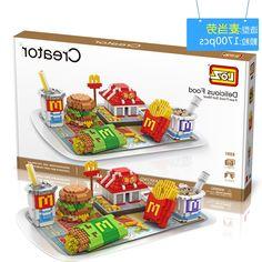 28.96$  Buy now - https://alitems.com/g/1e8d114494b01f4c715516525dc3e8/?i=5&ulp=https%3A%2F%2Fwww.aliexpress.com%2Fitem%2FNew-Arrivals-LOZ-Diamond-Building-Blocks-3D-McDonald-s-Creator-Model-Delicious-Food-Bricks-Nano-bricks%2F32690030118.html - New Arrivals LOZ Diamond Building Blocks 3D McDonald's Creator Model Delicious Food Bricks Nano Bricks Children Educational Toys