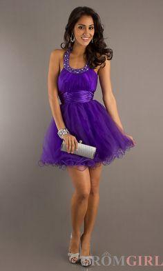 Short Empire Waist Tulle Dress DQ-8169