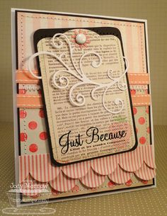 Jody Morrow: Confessions of a Ribbon Addict: Tag, You're It! Teaser Time! - 8/1/11 (MFT dies: Fancy Flourish; Notched Tag)
