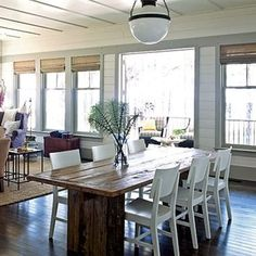 pictures of farm table and chairs | table and tolix chairs go together like bread and butter
