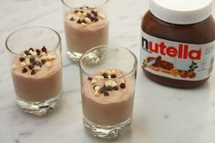 Nutella Mousse, High Tea, Food Inspiration, Panna Cotta, Pudding, Sweets, Dinner, Cooking, Ethnic Recipes