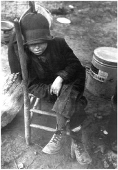 During the early years of the Depression in the United States, over 250,000 children were homeless, and, in some areas, 90% were malnourished. (Indiana University Press)