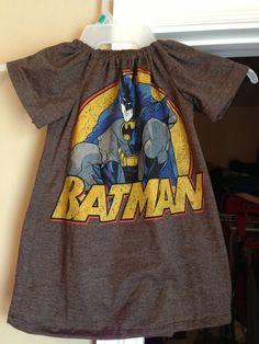 Batman tshirt dress Superhero Little girl 3t Batman by duvdesigns, $35.00