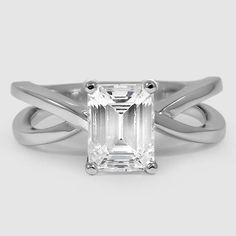 18K White Gold Helix Ring