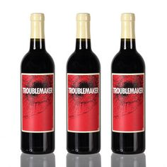 Troublemaker Red Wine Blend 3Pk, $44.99, now featured on Fab.