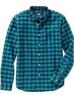Men's Slim-Fit Plaid Oxford Shirts Product Image | Christmas ...