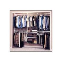 Black Friday 2014 Easy Track 4 to Deluxe Closet Starter Kit, White from Easy Track Cyber Monday Wire Closet Organizer, Coat Closet Organization, Closet Storage, Wire Closet Shelving, Kim House, Front Closet, Master Closet, Closet Redo, Closet Remodel