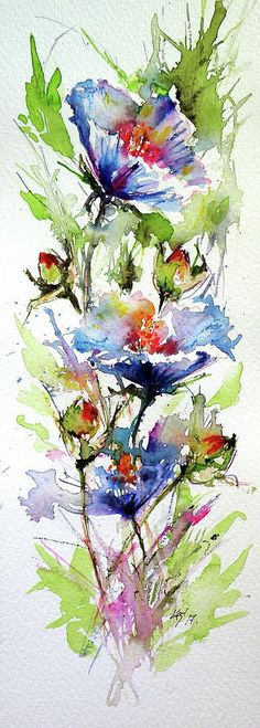Flowers Of Summer Painting by Kovacs Anna Brigitta