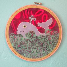 Happy Whale Wall Hanging. $28.00, via Etsy.
