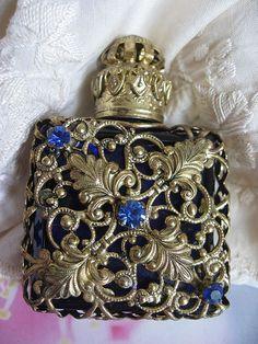 vintage intricate designed perfume bottle