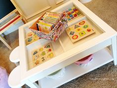 Ikea inspired homeschool room :). This has some good ideas for the littles.