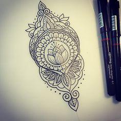 Something simple for Poorna #tattoo #tattoodesign #design #drawing #sketch #mehndi #iblackwork #onlyblackart #equilaterra #blackndark #blacktattooart #blackworkers #penandink #handdrawn #domholmestattoo