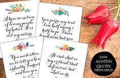 Jane Austen Quote prints