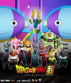 Gods of destruction - Poster by on DeviantArt Dragon Ball Z, Got Anime, Anime Manga, Akira, Realistic Cartoons, Hero Movie, Z Arts, Son Goku, Fandoms