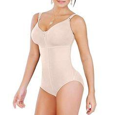 New Womens Plus Size Bodysuit Shapewear Slimming Tummy Control Full Body Shaper Panty Style Clip & Zip with Bra Fajas Colombianas 2 Colors Shapewear Best, Full Body Shaper, Seamless Underwear, Plus Size Women, Briefs, Spandex, Beige, High Waist, Easy Shape