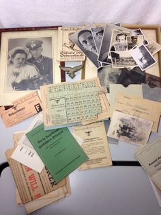 Lot of German WW2 Photos, Documents, Negatives, Letters & More Third Reich