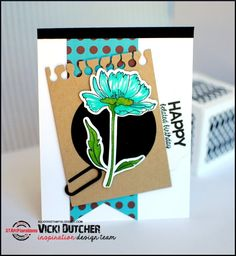 Card by Vicki using Blooming Buds and Party Time
